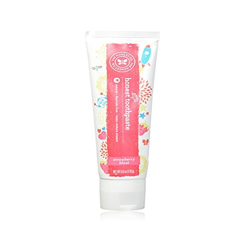 The Honest Company – Natural, Fluoride-Free Kids Toothpaste – Strawberry Blast, 6 oz