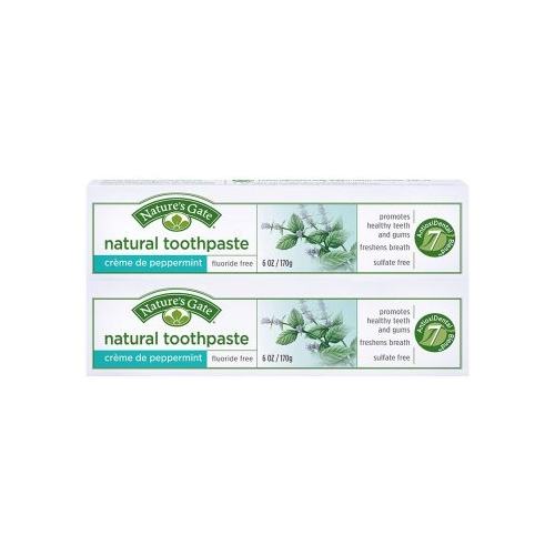 Nature's Gate Fluoride-Free Natural Creme toothpaste, Creme de Peppermint – 6 oz – 2 pk