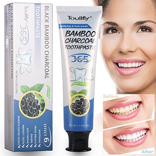 Activated Charcoal Teeth Whitening Toothpaste Coconut Flavor