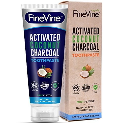 Fine Vine Charcoal Teeth Whitening Toothpaste